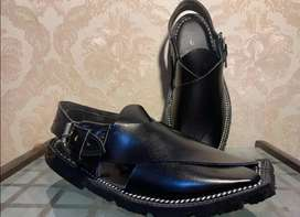 Peshawari chapal in best quality leather hand made.