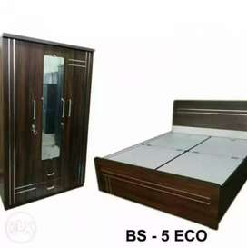 Brand New Latest Bed + Wardrobe
