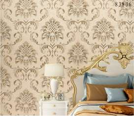 High Quality Luxury 3D Damask Wallpaper