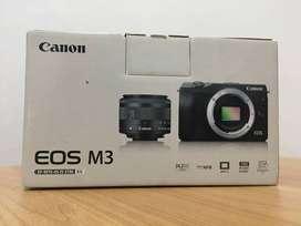 Kamera Mirrorless Canon EOS M3 Kit EF-M15-45mm Putih