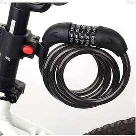 NEW, Gembok Kunci Pengaman Sepeda Motor Helm Kable Kode Angka 4 Digit