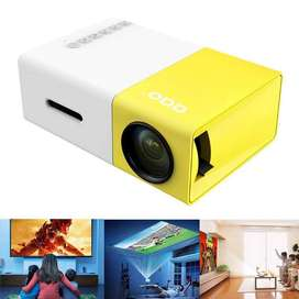YG-300 LCD Mini 1080P Portable LED Projector Home Cinema Projector
