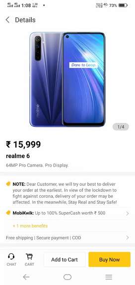New seal pack realme 6