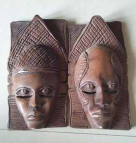 Old Wooden Mask - Antiques - Antique - Decor - Decorative - Wooden