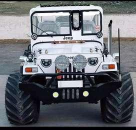 Modified  stylish white jeep