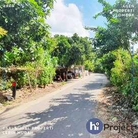 Tanah kavling pinggir jalan di Kuripan Lombok barat T471