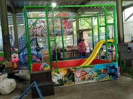Mainan meja pasir kinetik warna mandi bola gerobak playground indoor 1