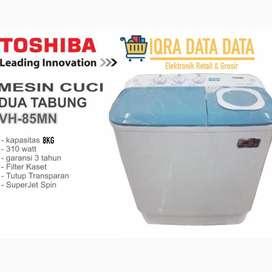 MESIN CUCI TOSHIBA 2 Tabung-8 kg -Garnsi 5 tahun