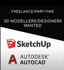 SketchUp 3D Designers - Part time/Freelance  Opportunity