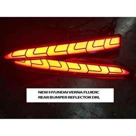 Verna fluidic 2018 rear bumper reflectors