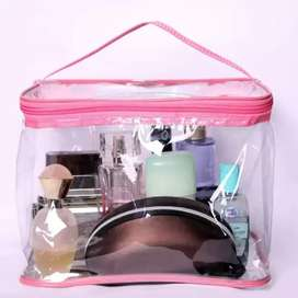 cosmetic pouch big size  (pink)