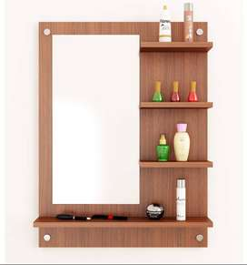 Wall Mirror Dressing with Shelves / Wall Mount Dressing Organizer