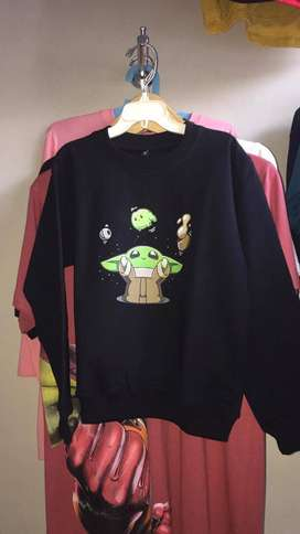 sweater anak edisi yoda starwars