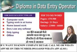 Get employed at your home with our typing data entry projects