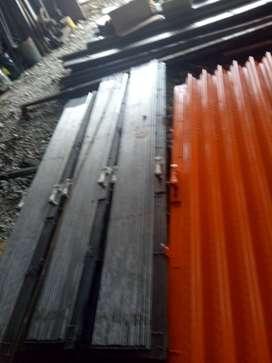 Folding gate rolling door harmonika siap pasang