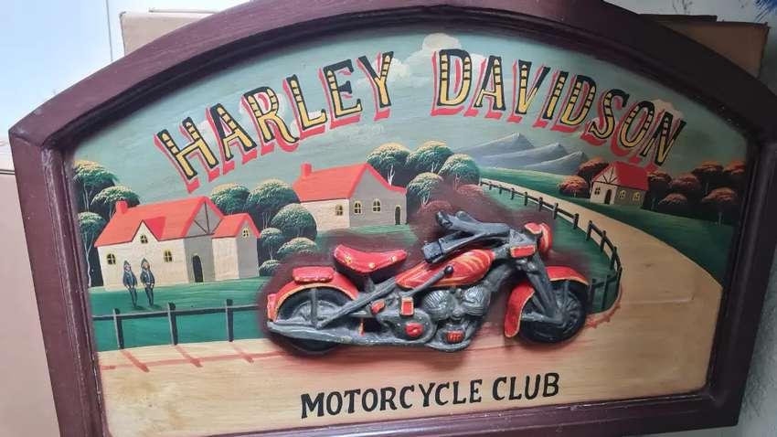 LUKISAN CLASSIC HARLEY DAVIDSON 3D