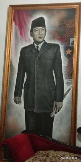 Lukisan satu badan Presiden Soekarno