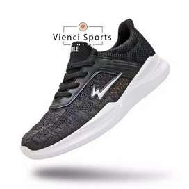 Sepatu Running Eagle Detroit Black Original Kualitas Top