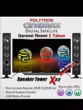 Ready Lagi POLYTRON PLD-40TS153 +Tower Speaker BARU DAN BERGARANSI