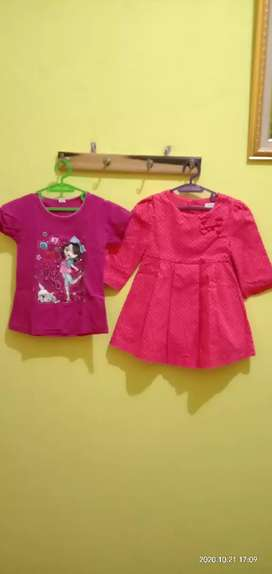 Baju anak perempuan 7 pcs
