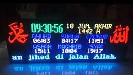 Jam digital sholat(  p5 lebih halus ) 1m x40cm