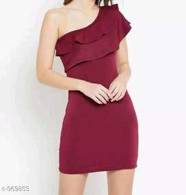 1 Piece Of Women's Dress Pattern: Solid