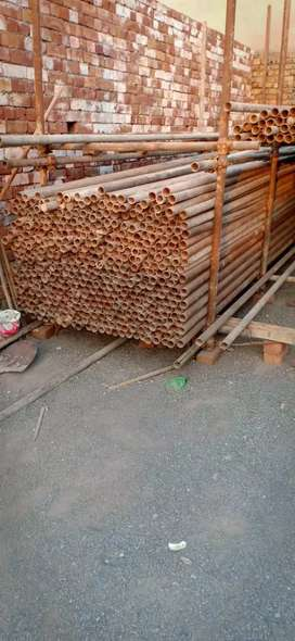 Scaffolding pipe and clumps
