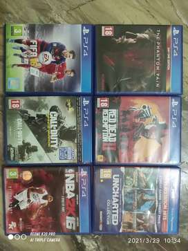 PS4 game used cds are available