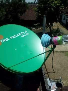 Pemasangan servis profesional parabola gratis iuran menganti