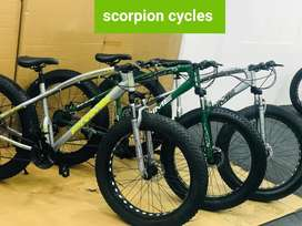 All new fat bike with disc breaks