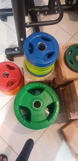 weight plates coloured