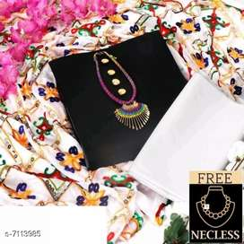 Cotton Salwar & Suit with free necklace