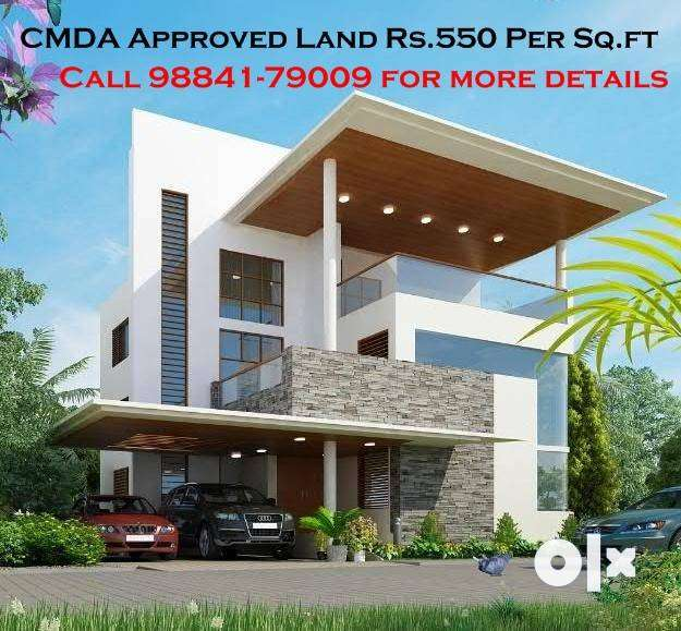 Rs.12 Lakhs: 2200 Sq.ft- CMDA Approved Land near Redhills Toll Gate 0