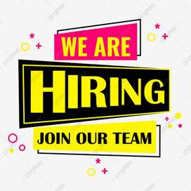 Male and female Staff required in Office Work
