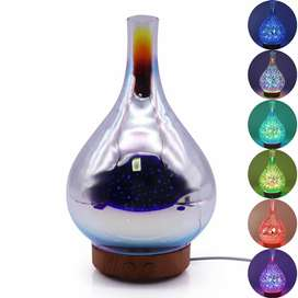 RJ300 Umiwe 3D Firework Glass Vase LED Humidifier Aromatherapy