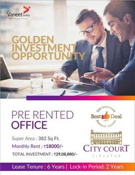 6 years Pre-Rented Office Space on Sale