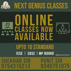 Online classes and home tutions