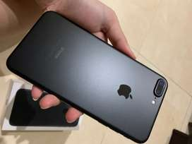 IPhone 7 Plus 128Gb second fullset (seperti baru) - Black matte