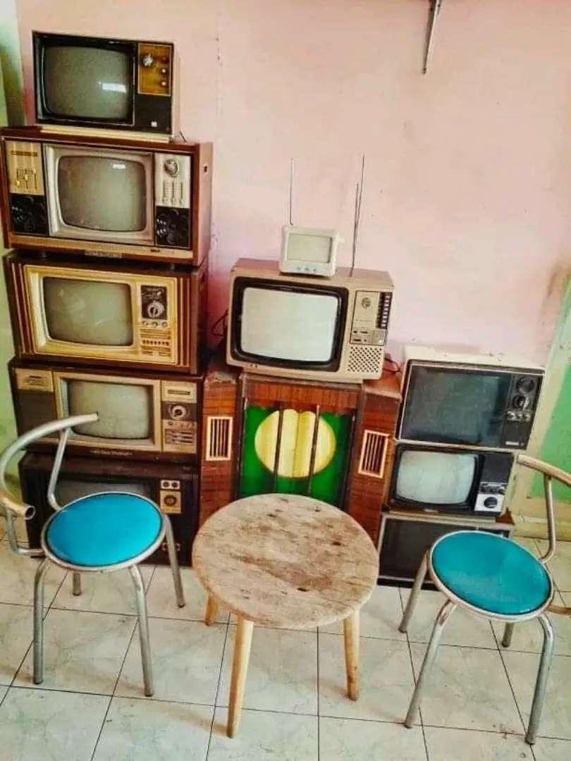 Borongan 10 tv jadul lawas antik unik vintage apa adanya seperti foto 0