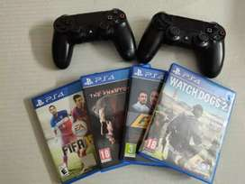 6 Games & 2 PS4 Controllers