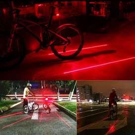 lampu sepeda LED + laser