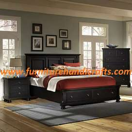 Brand new solid wooden storage double cot