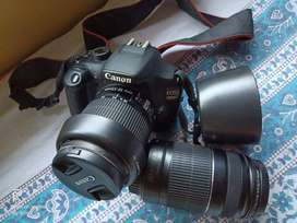 Canon 1200D with 18-55 mm & 55-250 mm Lens