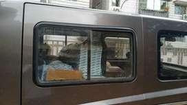 Driving delivery van