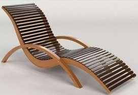 Kursi Outdor, kursi kolam renang, kayu jati gread b open, freeongkir