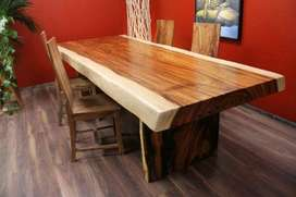 Meja Makan Solid Wood