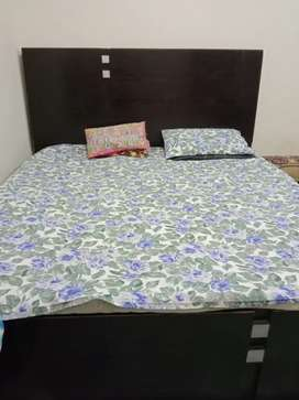2 years used bed set with wardrobe and singhar for sale.