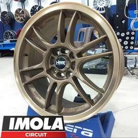 Pelek mobil racing murah ring 15 HSR wheel baut 4x100 Bronze Gresik