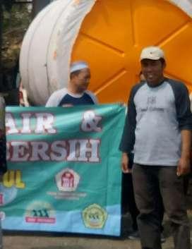 Gudang tandon air 5000 liter hdpe bahan plastik tiga lapis wonosari