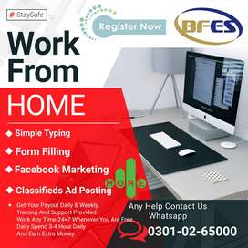 We are hiring students, unemployed for data entry work